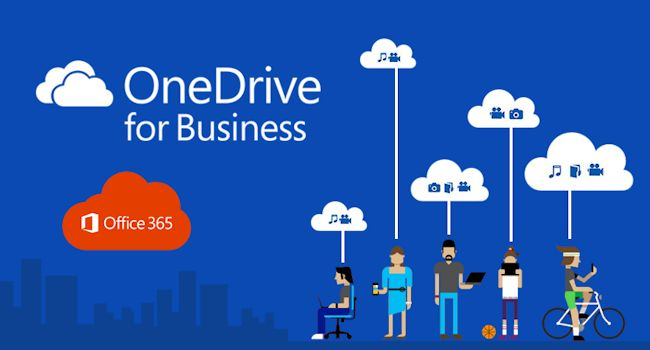 Promotional image showing OneDrive for Business