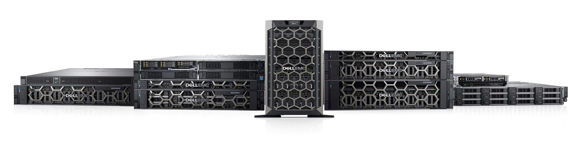 Example of the different Dell servers that are available to purchase